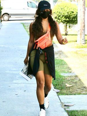 Vanessa Hudgens in Tight Shorts, Leaving a Workout in Los Angeles