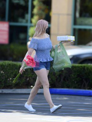 Ariel Winter Fair Legs in Denim Shorts Out in Los Angeles