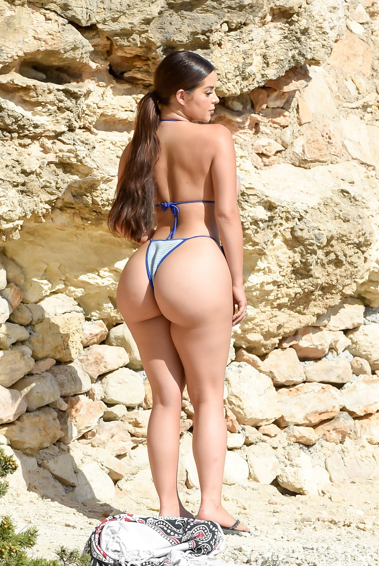 Demi Rose Mawby Huge Ass, Wears a Skimpy Bikini on a Shoot in Ibiza