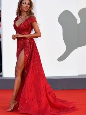 Madalina Ghenea Leggy, Arrives at The 77th Venice Film Festival