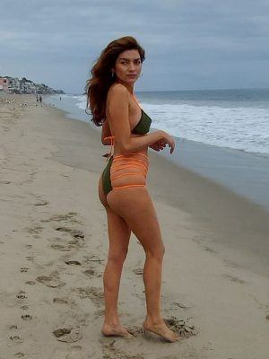 Blanca Blanco Booty, Goes for a Walk Along the Beach in Malibu