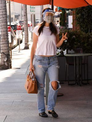 Emmy Rossum in Jeans, Out in Beverly Hills