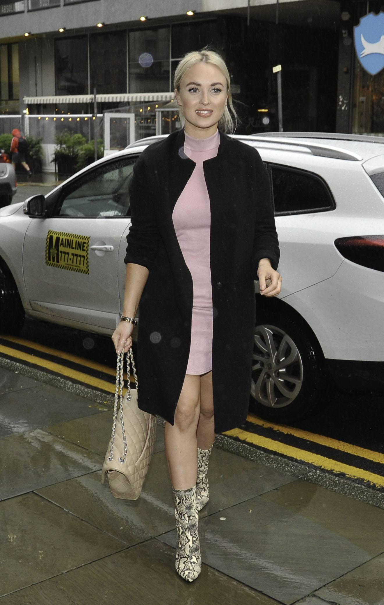 Jorgie Porter Outside Peter Street Kitchen in Manchester