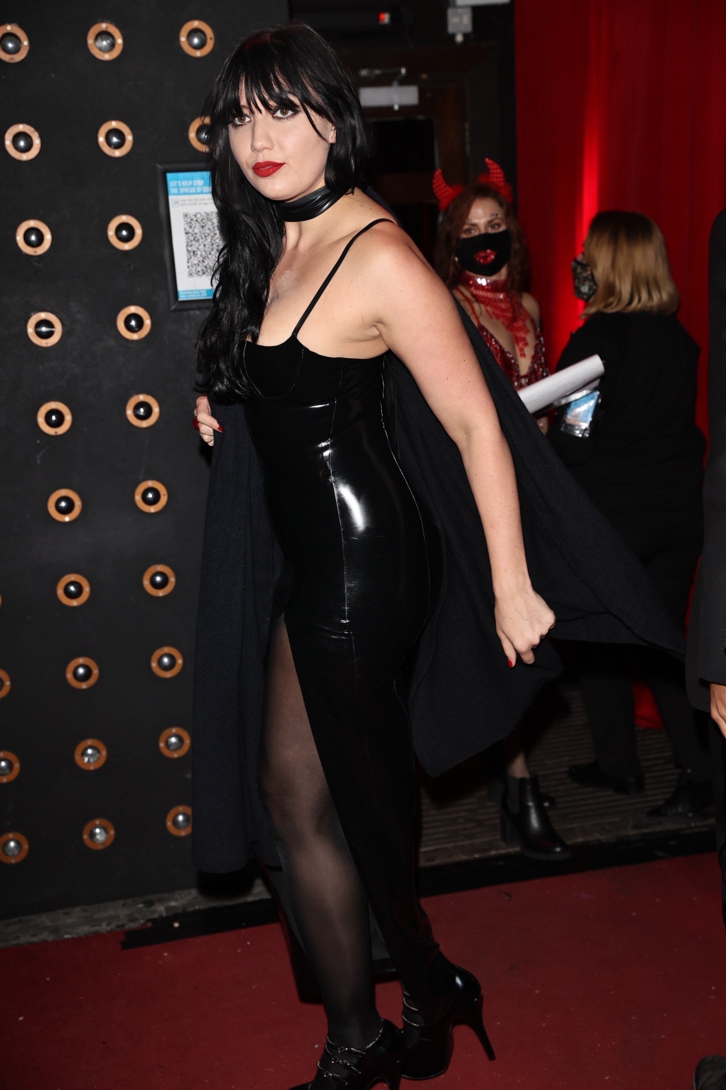 Daisy Lowe Attends All Star Cabaret Halloween Night at Proud Embankment in London