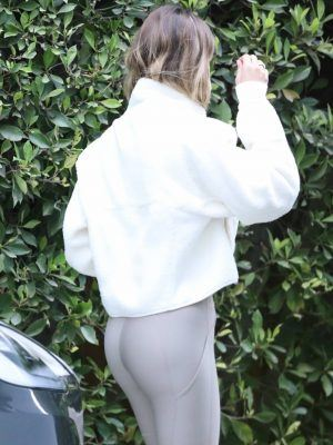 Hailey Bieber Booty at a Private Gym Session in West Hollywood