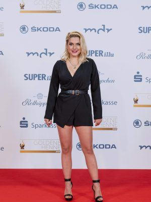 Jeanette Biedermann Leggy at Goldene Henne in Leipzig