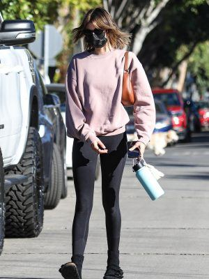Kaia Gerber Outside Morning Pilates Class in West Hollywood