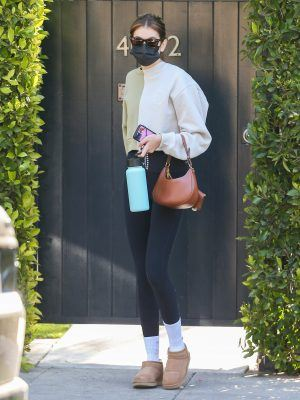 Kaia Gerber Outside a Private Pilates Class in Los Angeles