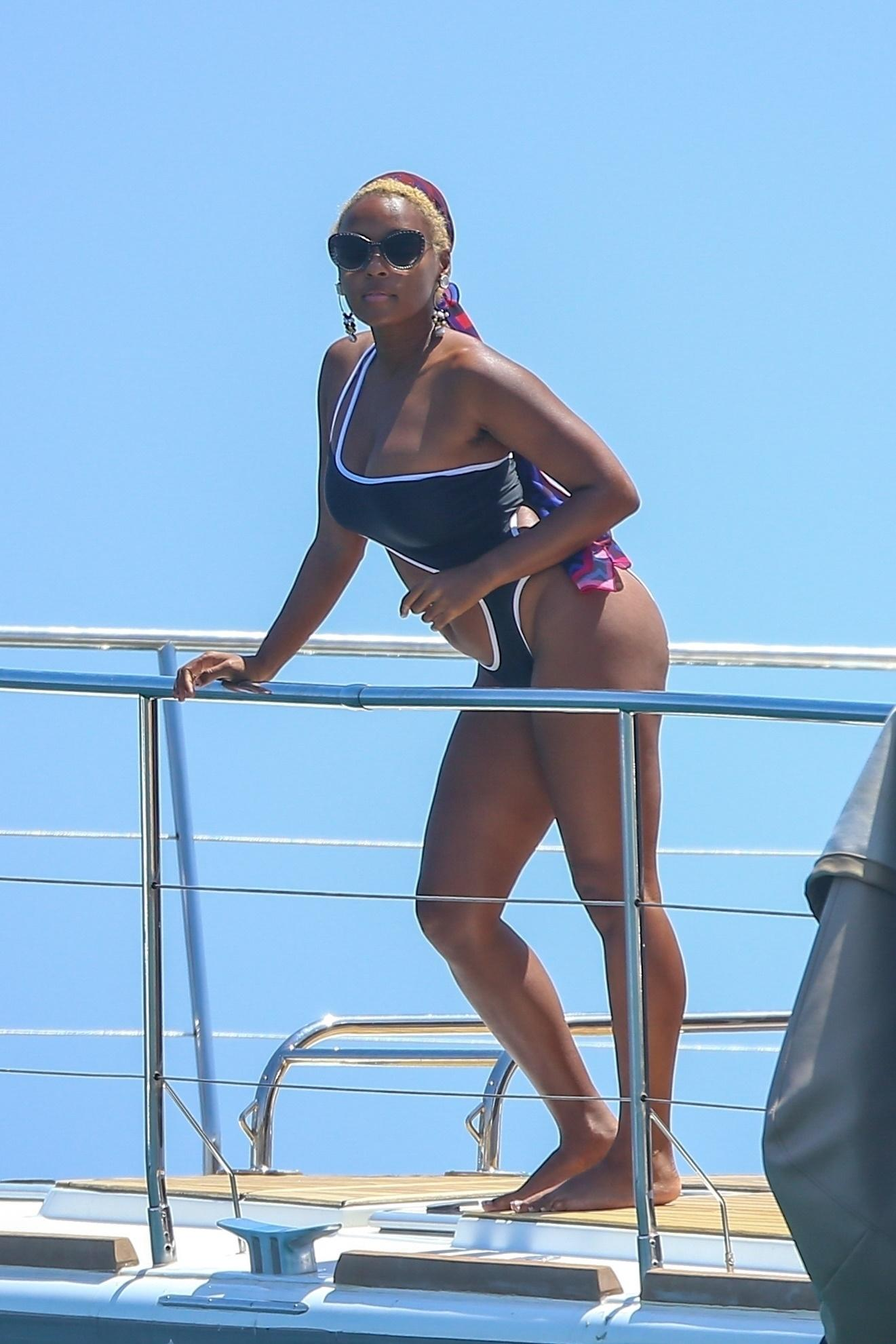 Janelle Monáe on Vacation in Cabo San Lucas