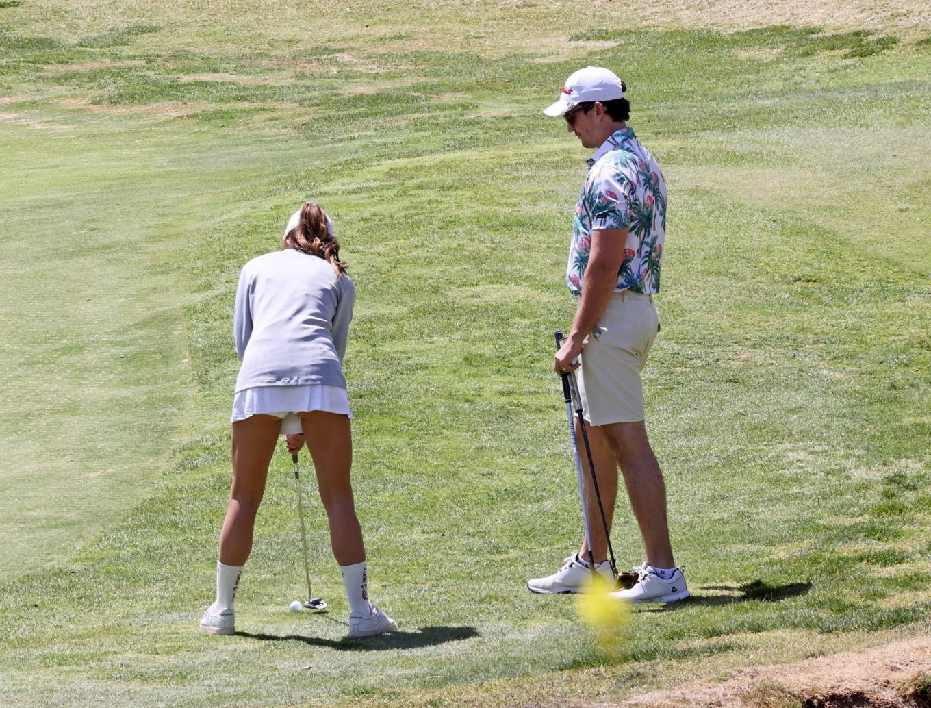 Keleigh Sperry Playing Golf in Los Angeles