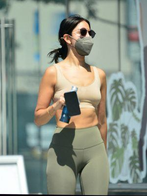 Eiza Gonzalez in Tights Leaving a Gym in West Hollywood