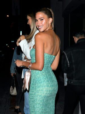 Kara Del Toro Cleavage at Catch in West Hollywood