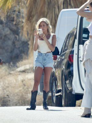 Kristin Cavallari at the Set of Uncommon James Shoot in Palm Springs