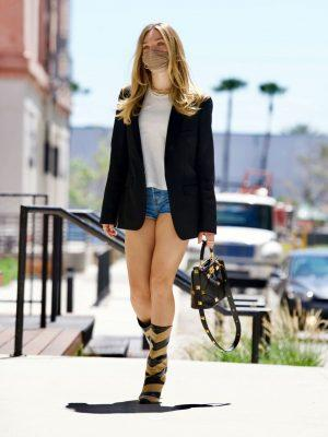 Maddie Ziegler Leggy Spotted heading to the Spotify Offices in LA