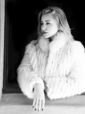 Caylee Cowan Cleavage, Black and White Photoshoot