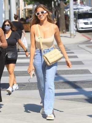 Kara Del Toro in Jeans Shopping with a Friend in Beverly Hills