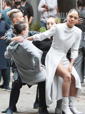 """Tessa Thompson Filming the Upcoming Season 4 of """"Westworld"""" in New York"""